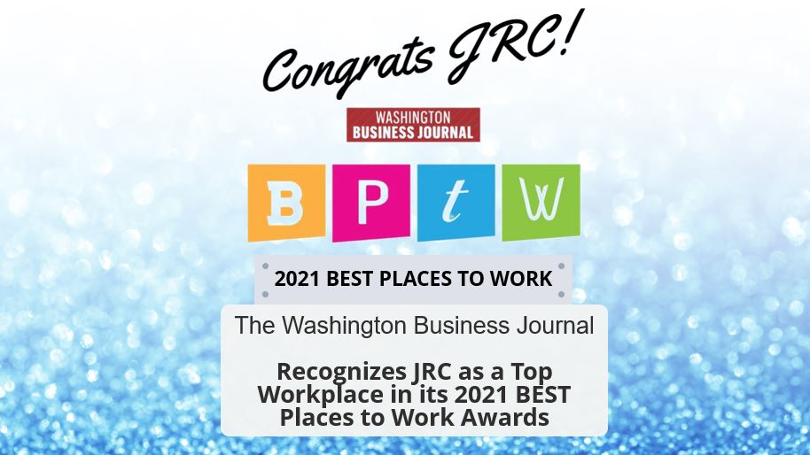 THE WASHINGTON BUSINESS JOURNAL RECOGNIZES JRC AS A TOP WORKPLACE