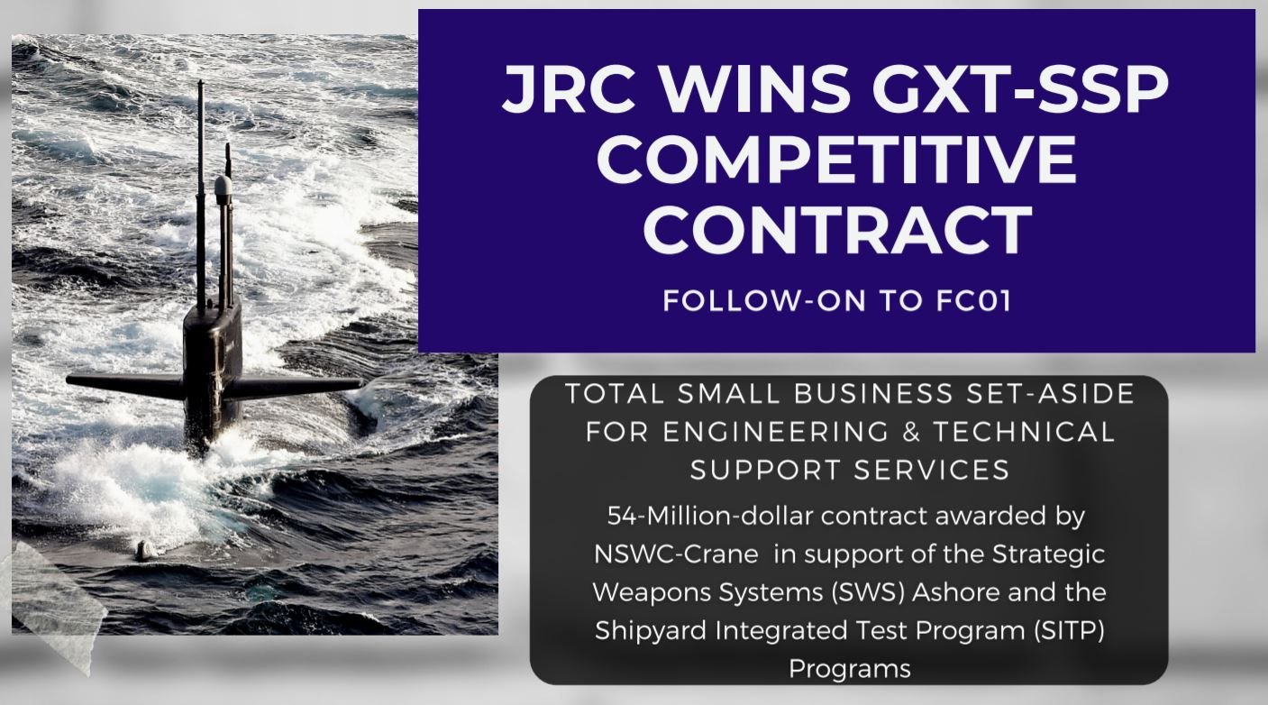 JRC WINS GXT-SSP COMPETITIVE CONTRACT